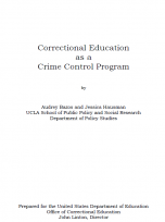 Decorative image for Resource Profile Correctional Education as a Crime Control Program