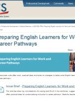Decorative image for Resource Profile Preparing English Learners for Work and Career Pathways: Issue Brief