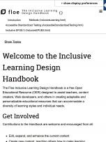 Decorative image for Resource Profile FLOE Inclusive Learning Design Handbook