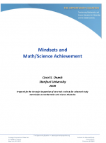 Decorative image for Resource Profile Mindsets and Math/Science Achievement