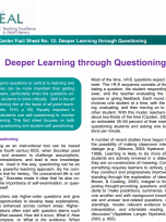 Decorative image for Resource Profile TEAL Fact Sheet No. 12: Deeper Learning through Questioning