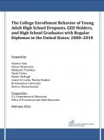 Decorative image for Resource Profile The College Enrollment Behavior of Young Adult High School Dropouts, GED Holders, and High School Graduates with Regular Diplomas in the United States: 2000–2010