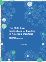 Decorative image for Resource Profile The Math Gap: Implications for Investing in America's Workforce