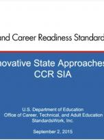 Decorative image for Resource Profile Innovative State Approaches to Implementing CCR Standards Webinar