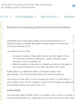 Decorative image for Resource Profile Educators Evaluating Quality Instructional Products (EQuIP): Exemplary Lessons aligned to College and Career Readiness (CCR) standards in ELA/literacy