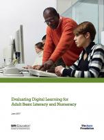 Decorative image for Resource Profile Evaluating Digital Learning for Adult Basic Literacy and Numeracy