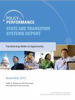 Decorative image for Resource Profile Policy to Performance: State ABE Transition Systems Report
