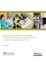 Decorative image for Resource Profile Empowering Adults to Thrive at Work: Personal Success Skills for 21st Century Jobs. A Report on Promising Research and Practice