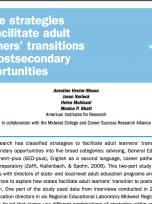 Decorative image for Resource Profile State strategies to facilitate adult learners' transitions to postsecondary opportunities