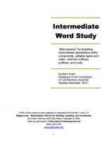 Decorative image for Resource Profile Intermediate Word Study