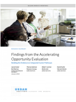 Findings from the Accelerating Opportunity Evaluation: Building the Evidence on Integrated Career Pathways