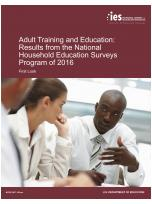 Decorative image for Resource Profile Adult Training and Education: Results from the National Household Education Surveys Program of 2016. First Look.