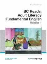 Decorative image for Resource Profile BC Reads: Adult Literacy Fundamental English - Reader 1