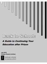 Decorative image for Resource Profile Back to School: A Guide to Continuing Your Education after Prison
