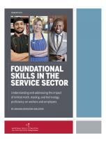 Decorative image for Resource Profile Foundational Skills in the Service Sector
