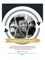 Decorative image for Resource Profile Framing the Opportunity: Eight State Policy Recommendations that Support Postsecondary Credential Completion for Underserved Populations