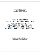 Decorative image for Resource Profile Inmate Literacy: What are the Most Effective and Cost-Effective Strategies to Teach Basic Reading and Math Skills to Adult Inmates in California
