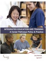 Decorative image for Resource Profile Integrated Education and Training: A Career Pathways Policy & Practice
