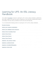 Decorative image for Resource Profile Learning for LIFE: An ESL Literacy Handbook