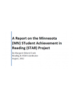 Decorative image for Resource Profile A Report on the Minnesota STudent Achievement in Reading (STAR) Project