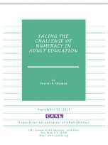 Decorative image for Resource Profile Facing the Challenge of Numeracy in Adult Education