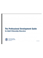 Decorative image for Resource Profile The Professional Development Guide for Adult Citizenship Educators