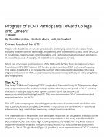 Decorative image for Resource Profile Progress of DO-IT Participants Toward College and Careers