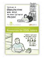 Decorative image for Resource Profile ESOL Tutor Resource Pack