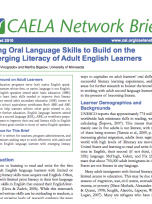 Decorative image for Resource Profile Using Oral Language Skills to Build on the Emerging Literacy of Adult English Learners