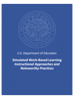 Decorative image for Resource Profile Simulated Work-Based Learning Instructional Approaches and Noteworthy Practices