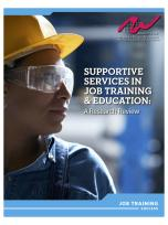 Decorative image for Resource Profile Supportive Services in Job Training and Education: A Research Review