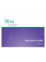 Decorative image for Resource Profile TEAL Math Works! Guide