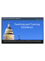 Decorative image for Resource Profile Teaching and Training Excellence