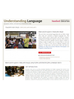 Decorative image for Resource Profile Stanford University's Understanding Language: Teaching Resources for English Language Arts