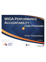 Decorative image for Resource Profile WIOA Wednesday: Performance Accountability, Parts 1 & 2