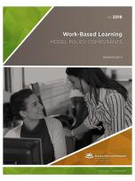 Decorative image for Resource Profile Work-Based Learning: Model Policy Components