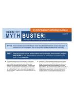 Decorative image for Resource Profile Reentry Mythbuster: On Information Technology Access