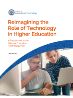 Decorative image for Resource Profile Reimagining the Role of Technology in Higher Education
