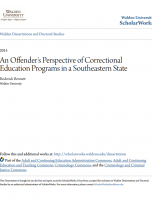 Decorative image for Resource Profile An Offender's Perspective of Correctional Education Programs in a Southeastern State