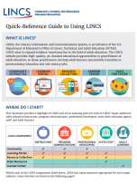 Decorative image for Resource Profile LINCS Quick Reference Guide