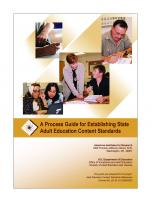 Decorative image for Resource Profile A Process Guide for Establishing State Adult Education Content Standards