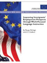 Decorative image for Resource Profile Improving Immigrants' Employment Prospects through Work-Focused Language Instruction