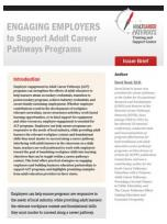 Decorative image for Resource Profile Engaging Employers to Support Adult Career Pathways Programs